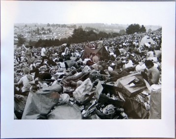 """Woodstock (Crowd in Field with Tent and Trash),"" 1969"