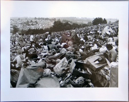 """""""Woodstock (Crowd in Field with Tent and Trash),"""" 1969"""