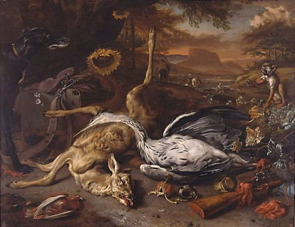 """Still Life with Hunting Trophies,"" 1680s-1690s?"