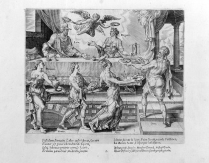 """Labor and Diligence Enjoying Their Simple Meal,"" from The Reward of Labor and Diligence, 1572"