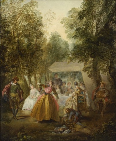 """""""Dance in a Garden,"""" mid-1730s Nicolas Lancret French, 1690 – 1743 mid-1730s oil on canvas 72.22.1"""