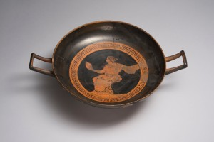 Woman with Mirror: Kylix with Red Figures