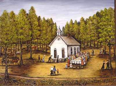 """""""Dinner on the Grounds of the Corinth Baptist Church,"""" 1985"""