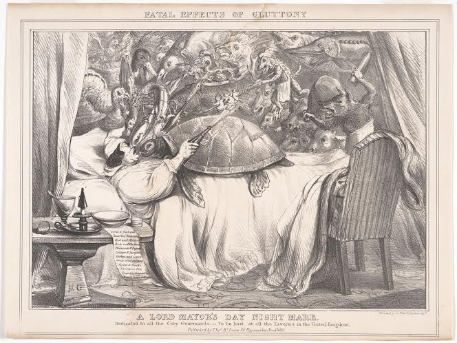 British, 19th century A Lord Mayor's Day Night Mare, 1830 lithograph