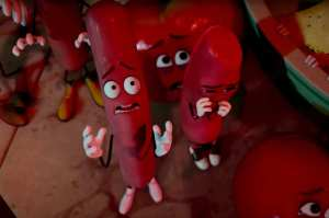 Carl and Barry react with horror after seeing two baby carrots eaten.
